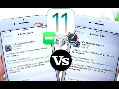 iOS 11 Beta 5 Vs Beta 4 Performance & Battery Test