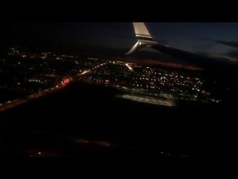 Post-Sunset Landing into Phoenix. Alaska Air 737-990ER