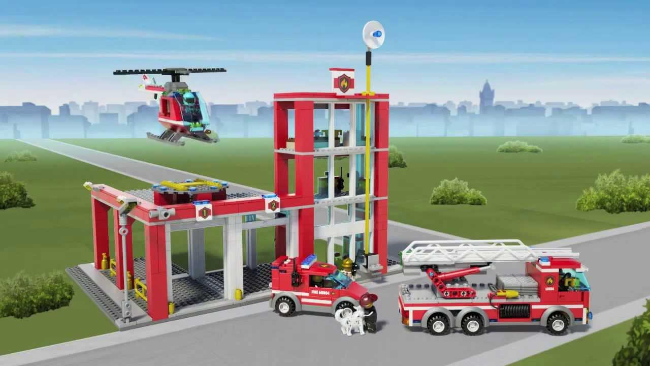 Lego City 60004 Estaci 243 N De Bomberos Youtube