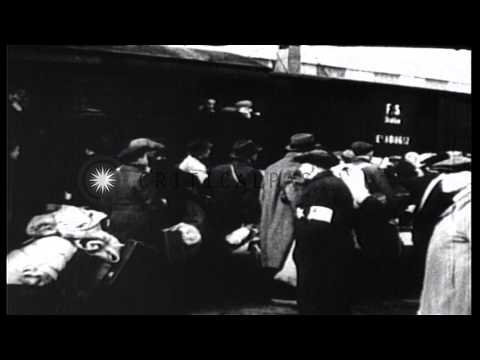 Trial of Nazi war criminal Hanns Albin Rauter in the Hague, Netherlands. HD Stock Footage