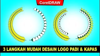Cara Mudah Desain Logo Padi dan Kapas Dengan CorelDRAW