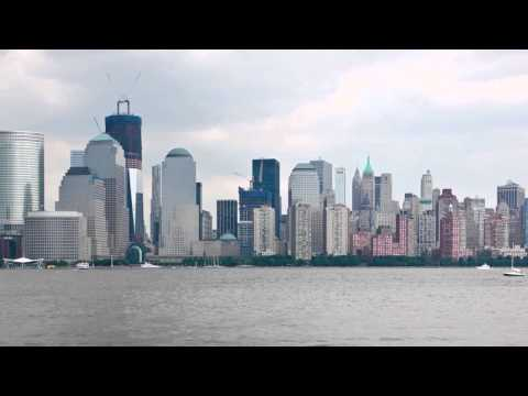 Lower Manhattan Skyline from Jersey City (HD)
