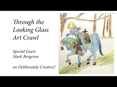 Speed Paint the White Knight, Through the Looking Glass Art Crawl