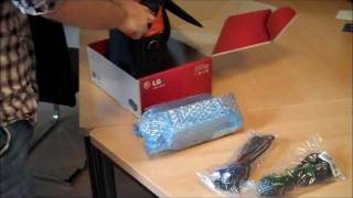 HW300G und HW300Y Unboxing und Test des LED Beamers von LG