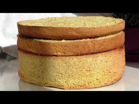 Рецепт простого БИСКВИТА. The recipe for a simple sponge cake.