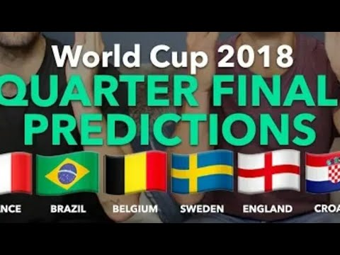 My prediction  for 2nd quarter  final match of 2018 .