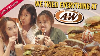 WE TRIED EVERYTHING AT A&W! | Eatbook Vlogs | EP 101