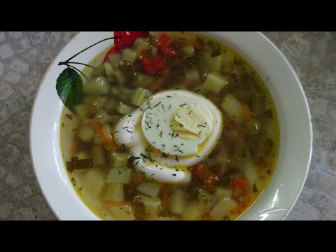 ВКУСНО И ПОЛЕЗНО - Суп со щавелем и стручковой фасолью