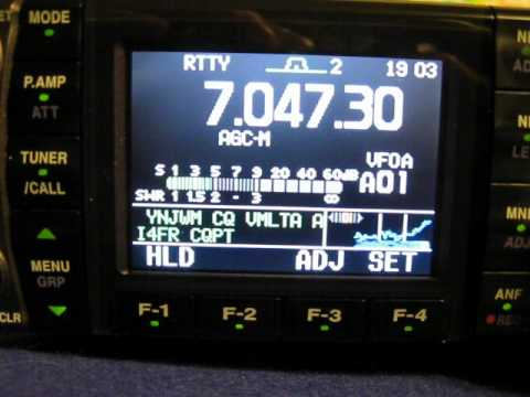 RTTY decoding with the IC-7000