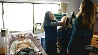 Lucifer 2x13 Maze Shocks Charlotte and She Dies Season 2 Episode 13