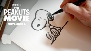 The Peanuts Movie | How To Draw Snoopy [HD] | Fox Family Entertainment
