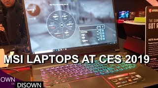 MSI Laptops at CES 2019. RTX MSI GS75 and More !