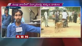 Stray dogs attack, 9 kids injured | Hyderabad