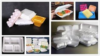 Ps foam foox box making machine, ps fast food box thermoforming machine