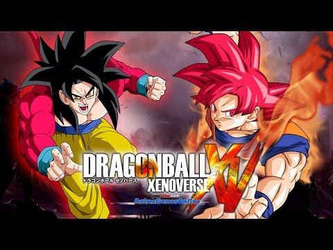 Super Saiyan God Goku vs SSJ4 Goku Gameplay - Dragon Ball Xenoverse ドラゴンボール ゼノバース