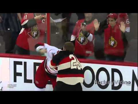 Tim Gleason vs Chris Neil fight . Apr 16, 2013