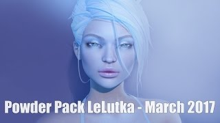 Powder Pack LeLutka March 2017 Unboxing + April Giveaway in Second Life