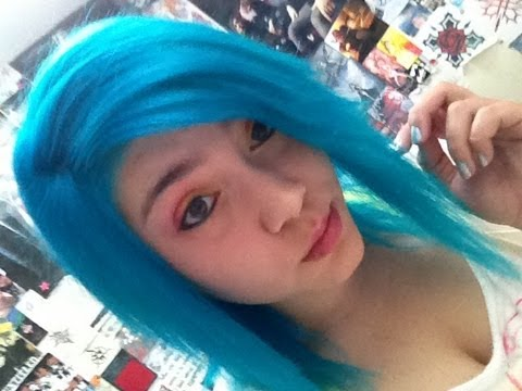 dying my hair atomic turquoise by manic panic youtube