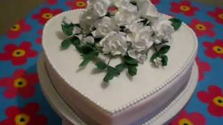 Heart Wedding Cake with Sugar Roses