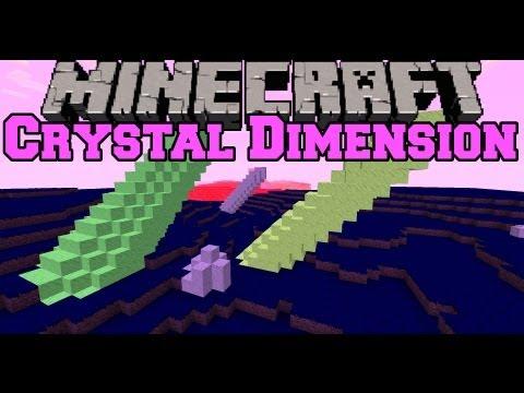 Minecraft Mod Showcase - Crystal Dimension Mod - Mod Review