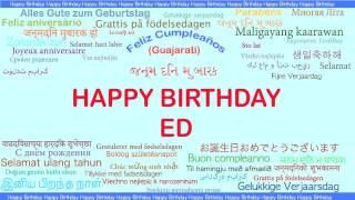 Ed   Languages Idiomas - Happy Birthday