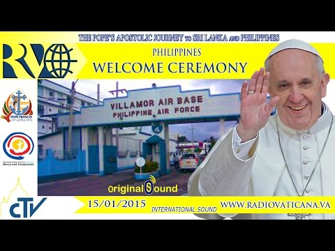 Pope in Philippines - Arrival at Manilla Airport - 2015.01.15