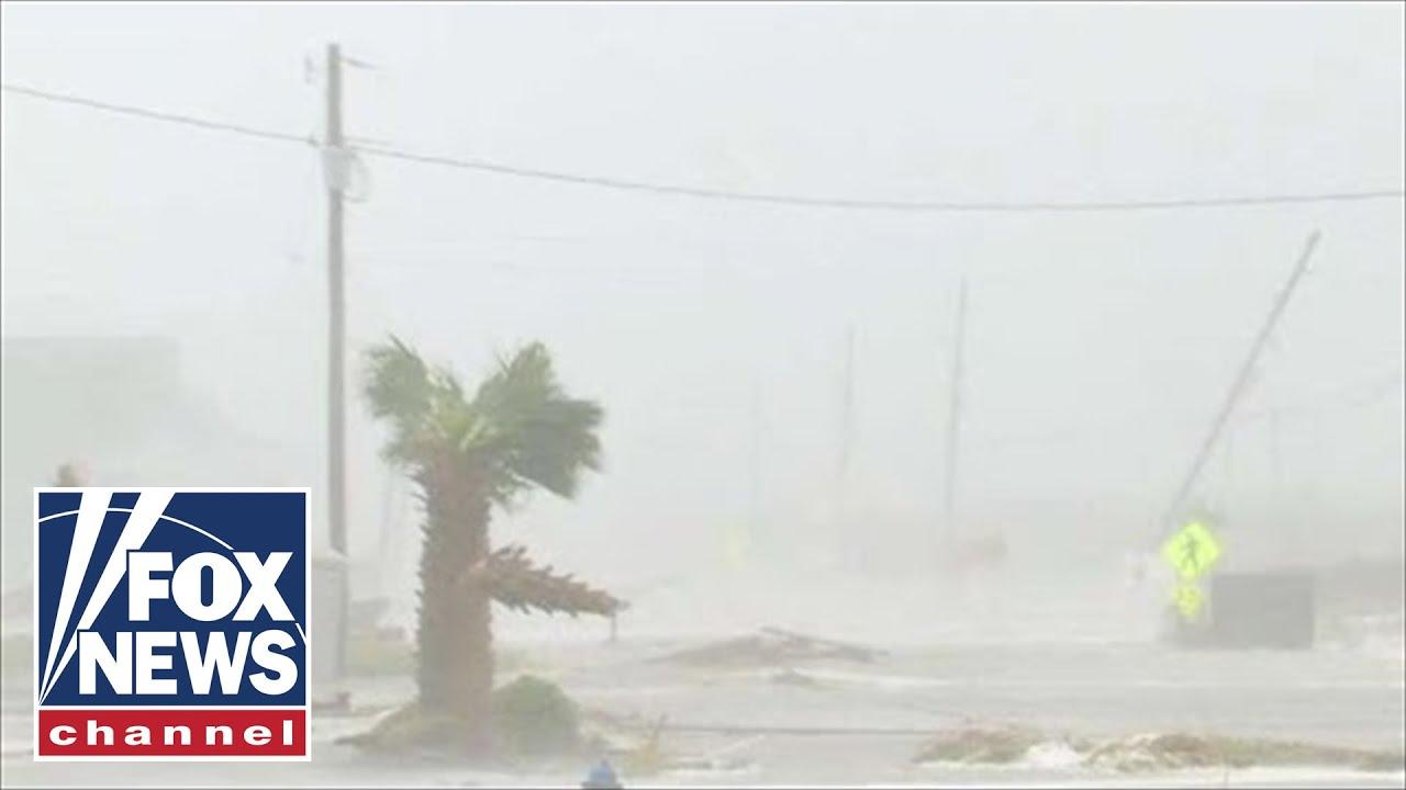 Intense wind pummels Topsail Island in North Carolina