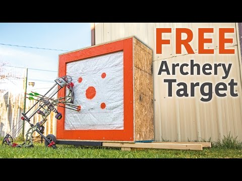 Homemade Archery Target from Scrap Materials.