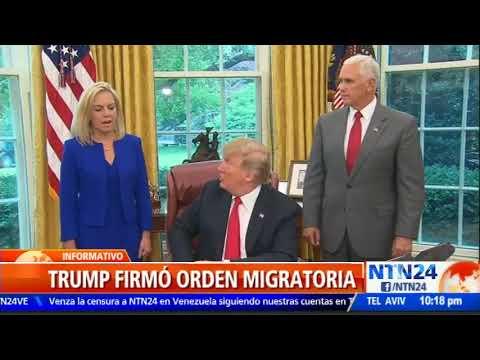 Trump firmó orden migratoria para frenar la separación de familias