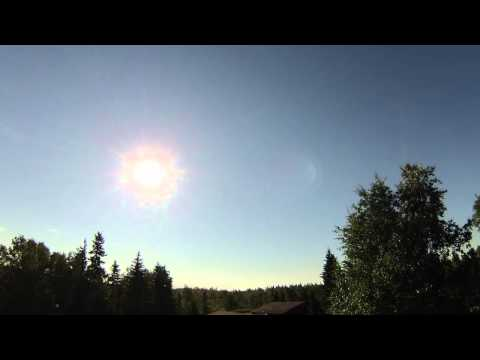 Nearly 24 hours of sunlight; Solstice in Fairbanks, Alaska 2015