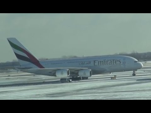 Emirates A380     /   New York JFK to Dubai     /   Part 1 of 5 (HD Video)