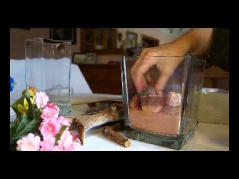 Decorar tarros de cristal con arena y piedras glass jars decorated with sand and stones youtube - Decorar jarrones de cristal ...