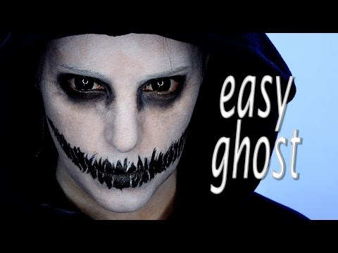 Easy Ghosts Halloween Makeup tutorial | Silvia Quiros