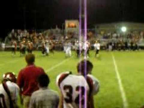 Football game in Hagerman High School