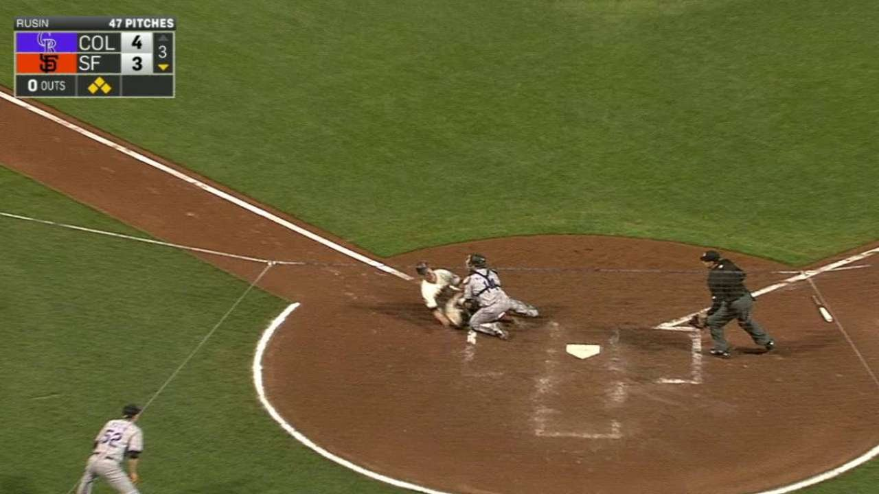 COL@SF: Gonzalez shows off his arm strength