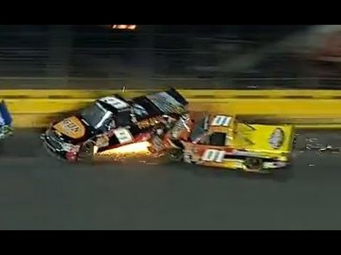 BIG Truck crash at Charlotte!