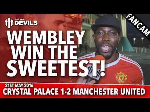 Wembley Win the Sweetest! | Crystal Palace 1-2 Manchester United | FANCAM