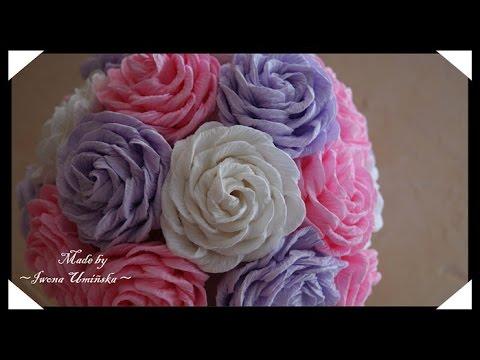 Конфеты цветы из гофрированной бумаги своими руками