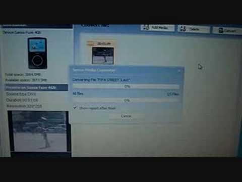 How to put videos on sansa fuze