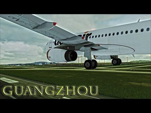 ✴  FSX  Tiger Airways A320 Approach to Guangzhou ✴