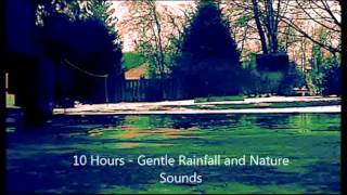 10 Hours - Gentle Rainfall and Nature Sounds for sleep and relaxation - Ambient Sounds - lluvia
