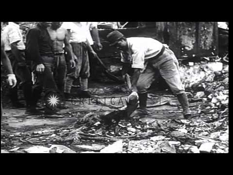 US and Japanese collaborate to rebuild Japan during American Military Occupation,...HD Stock Footage