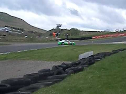 Action from Knockhill Race Track Scotland - GT Race 1 Victory going to the Jones Brothers in the Perci Spark Ascari Results Overall & GT3 1 Preci-Spark Ascari David Jones / Godfrey...