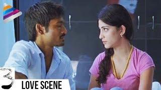 Dhanush and Shruti Haasan First Night | 3 Movie Movie Scenes | Anirudh | Telugu Filmnagar