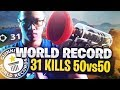 WORLD RECORD 31 KILLS 🏅 - 50V50 HAUTE VOLTIGE - KINSTAAR GAMEPLAY