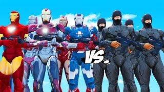 Iron Man Army VS RoboCop Army