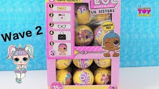 LOL Surprise Lil Sisters Series 3 Wave 2 Confetti Pop Palooza Toy Review | PSToyReviews