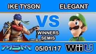 MSM 95 - Ike Tyson (Ike) Vs. Elegant (Luigi) Winners Semis - Smash Wii U
