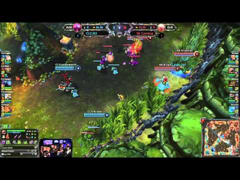 Round 1 : CLG.eu vs SK - Match 3 - LoL ECC: Poland, Warsaw 28-29.07.2012