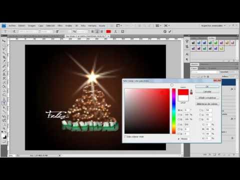 Como hacer una postal de Navidad en Photoshop